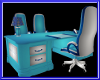 $A$ BLUE/SIL OFFICE DESK