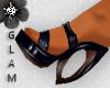 *G* Black Heel Sandals