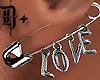 D+ Ear Pin Love