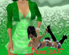 *Dress with Bolero Green