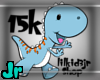 15k support dino sticker