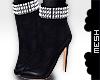 ! Black Studded Booties