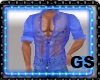 """GS"" MUSCLE SHIRT BLUE"