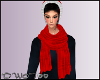 D- Twisted Red Scarf