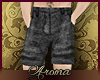 AOP=Black linen shorts