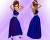 M.R. Deep Blue Gown