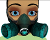 teal rave-toxic gas mask