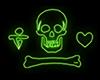 Stede Bonnet Neon Pirate