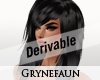 Derivable long hair 3