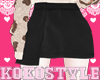 Koko.Black Leather Skirt