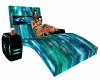 MJ-Tealcouples pool sofa