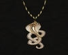Gold Cobra neckalce for