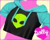 alien top blue
