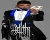 tuxedo long blue
