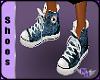 (1NA) Blue Sneakers Male