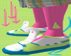 *CA* Pink High Socks 2
