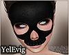 [Y] Black skull mask
