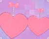 . fuzzy pink heart
