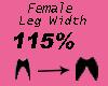 Leg Width 115%