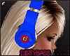 !B Blue Red Headphones F