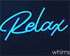 Neon Spins Relax Sign