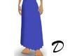 Long Pleated Skirt Mesh