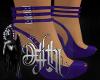 hex heels purple