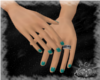 """C"" Sm Hands/ Teal Nails"