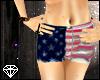 + American Flag Shorts