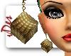 Cube Earrings - Gold