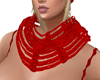 add on red rope scarf