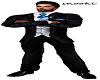 BlackWBlue Tie Suit