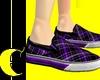 Purple Plaid Sneakers