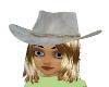 White cowgirl hat/hair