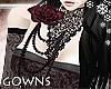 gowns - dark rose collar