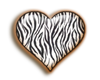 Zebra  heart Sticker
