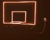 Neon basketball hoop