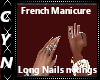 French Manicure n Rings