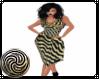 Gold Stripe Dress