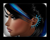 Spike Earrings Neon Blue