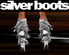 Silver Fringed Boots