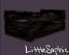 Empty Dark Wood Crate