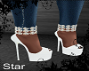 White Diamonded Heels
