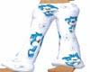 bluewhite pajama pants