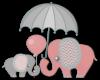 Kids Cute Elephant Wall