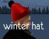 winter hat (red)