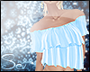 *S Summer Frill Top Blue