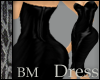 Leather Black Dress BM