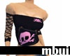 punky black tube top...