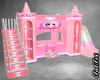 Poseless Pink Castle Bed